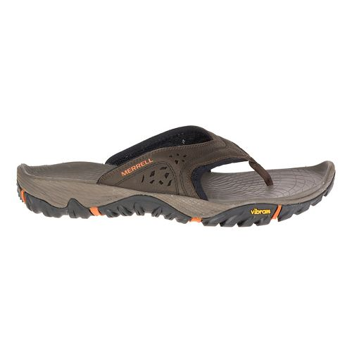Mens Merrell All Out Blaze Flip Sandals Shoe - Slate Black 10