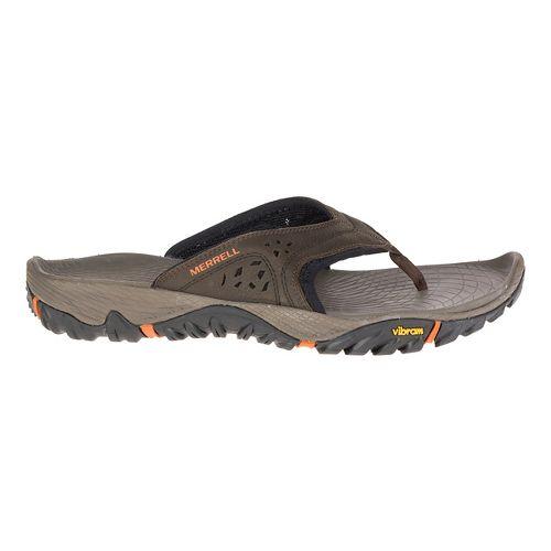 Mens Merrell All Out Blaze Flip Sandals Shoe - Slate Black 12