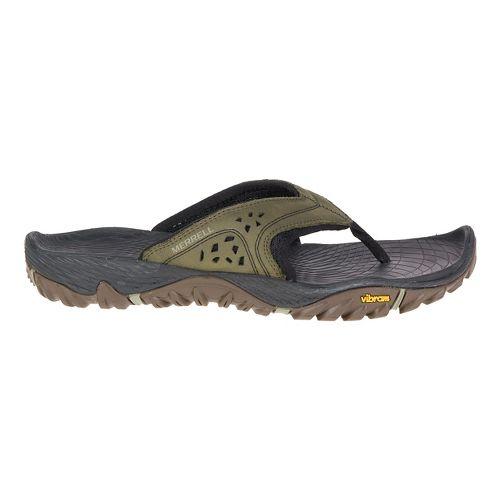 Mens Merrell All Out Blaze Flip Sandals Shoe - Dusty Olive 11