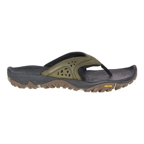 Mens Merrell All Out Blaze Flip Sandals Shoe - Dusty Olive 14