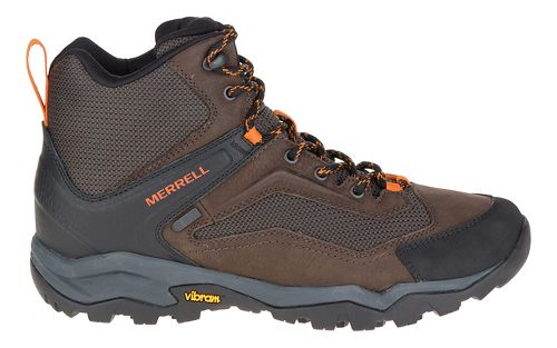 Mens Merrell Everbound Vent Mid WTPF Hiking Shoe - Dark Earth 12