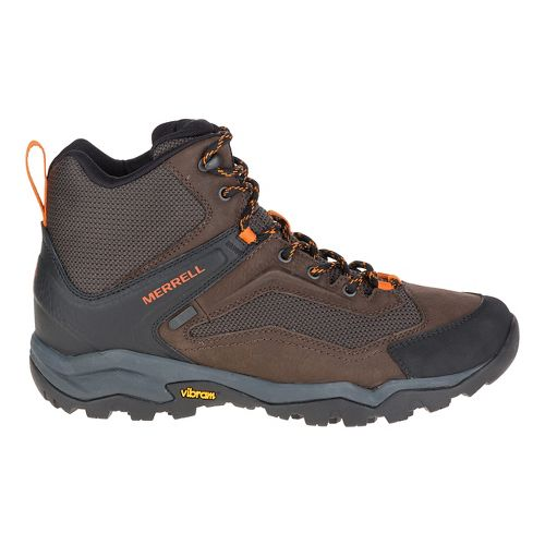 Mens Merrell Everbound Vent Mid WTPF Hiking Shoe - Dark Earth 8