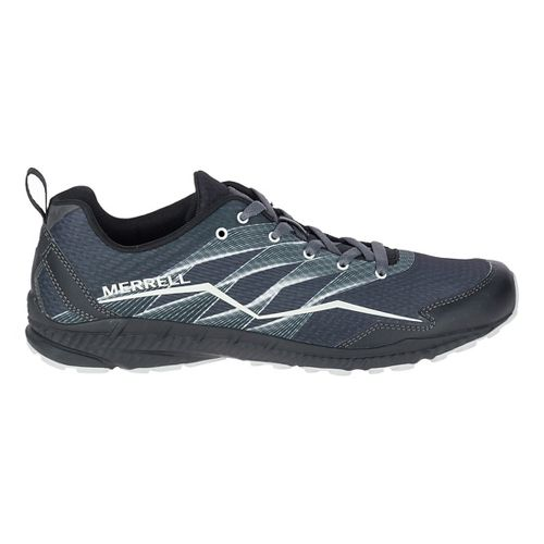Mens Merrell Crusher Trail Running Shoe - Granite/Black 11.5