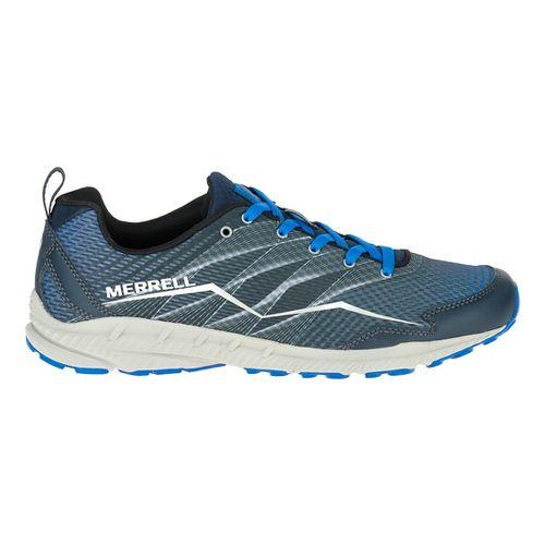 Mens Merrell Crusher Trail Running Shoe - Granite/Black 7.5