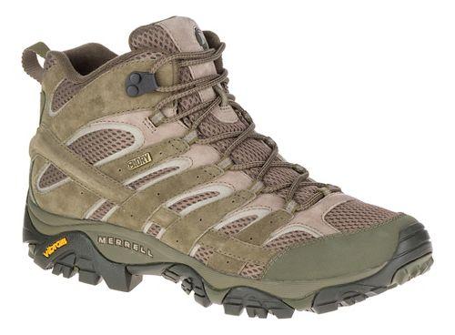 Mens Merrell Moab 2 Mid Waterproof Hiking Shoe - Dusty Olive 7
