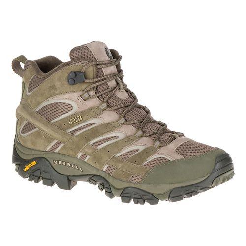Mens Merrell Moab 2 Mid Waterproof Hiking Shoe - Dusty Olive 9