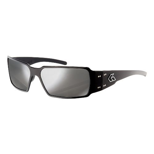 Mens Gatorz Boxster Sunglasses - Black/Smoke Chrome