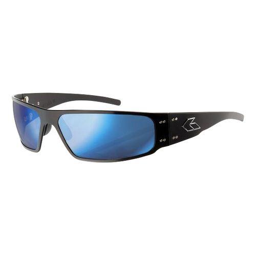 Mens Gatorz Magnum Sunglasses - Black/Smoke Blue