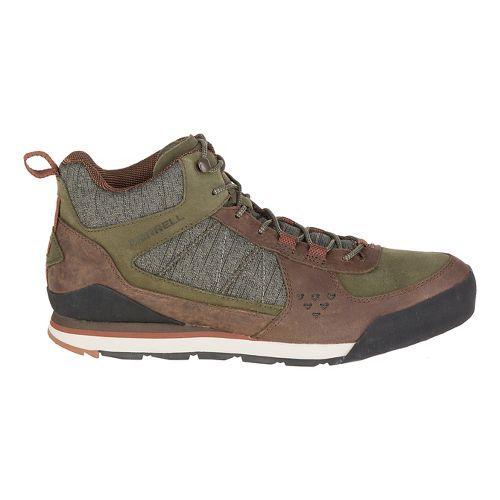 Mens Merrell Burnt Rock Mid Casual Shoe - Dusty Olive 10