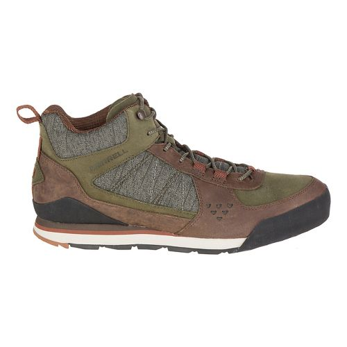 Mens Merrell Burnt Rock Mid Casual Shoe - Dusty Olive 12