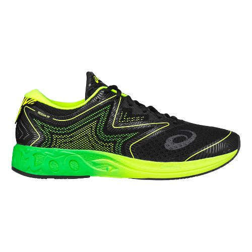 Mens ASICS Noosa FF Running Shoe - Black/Green 15