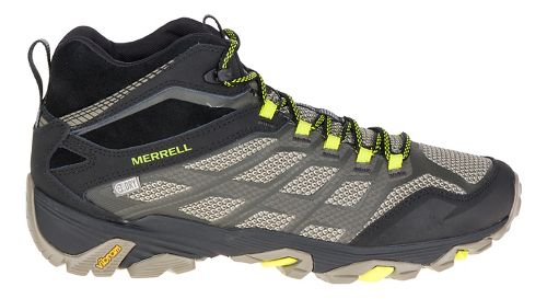 Mens Merrell Moab Fst Mid WTPF Hiking Shoe - Olive Black 10.5