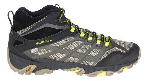 Mens Merrell Moab Fst Mid WTPF Hiking Shoe - Olive Black 11