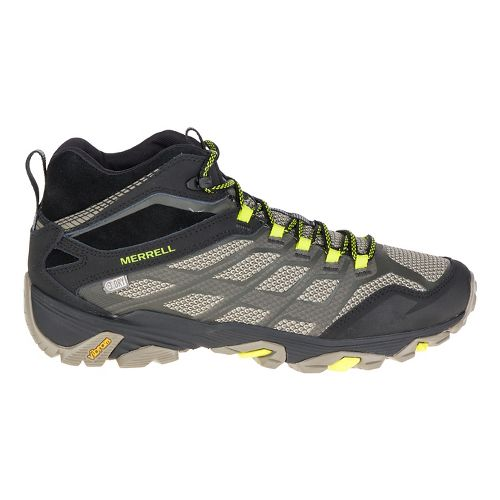 Mens Merrell Moab Fst Mid WTPF Hiking Shoe - Olive Black 9.5