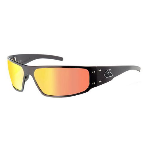 Mens Gatorz Magnum Sunglasses - Black/Sun Polarized
