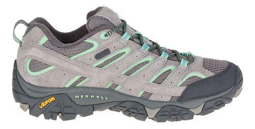 Womens Merrell Moab 2 Waterproof Hiking Shoe - Dazzle/Mint 11