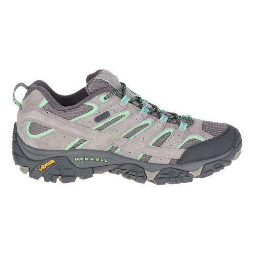 Womens Merrell Moab 2 Waterproof Hiking Shoe - Dazzle/Mint 5