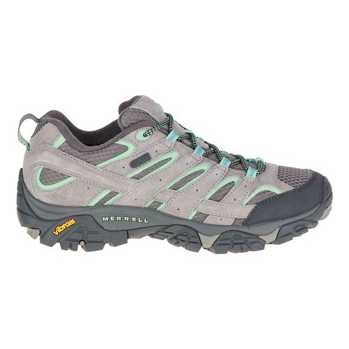 Womens Merrell Moab 2 Waterproof Hiking Shoe - Dazzle/Mint 5.5