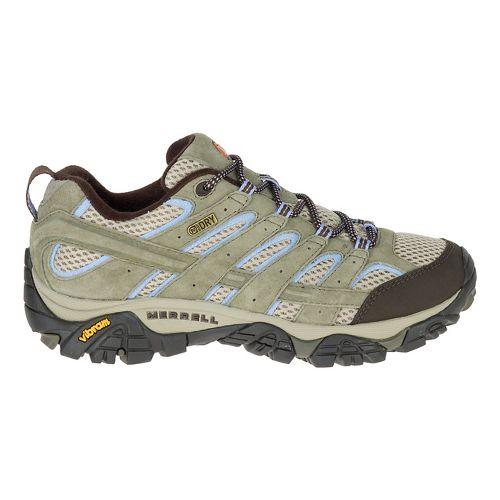 Womens Merrell Moab 2 WTPF Hiking Shoe - Dusty Olive 7.5