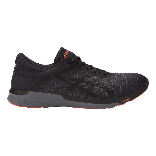 Mens ASICS fuzeX Rush Running Shoe - Black/Carbon 11