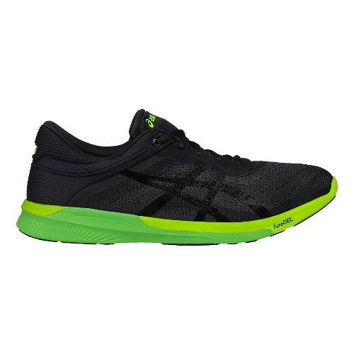 Mens ASICS fuzeX Rush Running Shoe - Black/Yellow 6.5