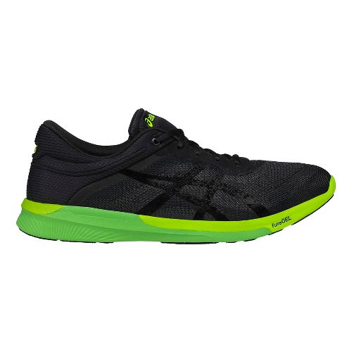 Mens ASICS fuzeX Rush Running Shoe - Black/Yellow 7