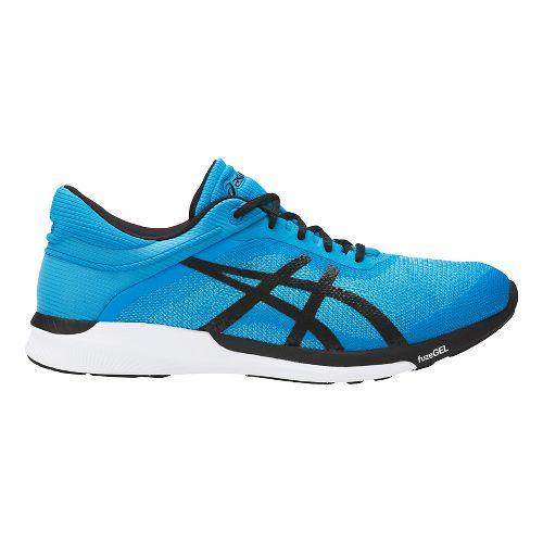 Mens ASICS fuzeX Rush Running Shoe - Aqua/Black 10.5