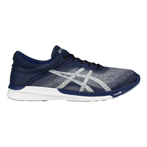 Mens ASICS fuzeX Rush Running Shoe - Blue/Silver 8.5