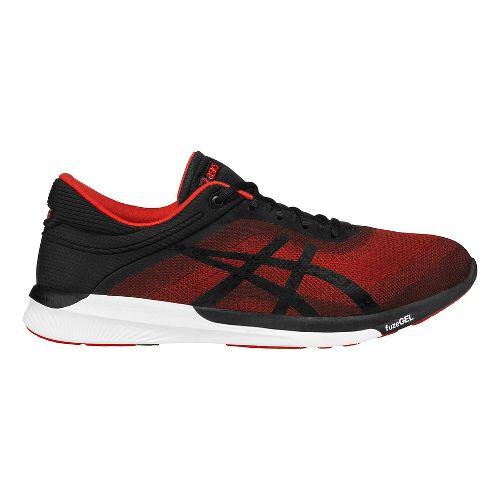 Mens ASICS fuzeX Rush Running Shoe - Vermilion/Black 9