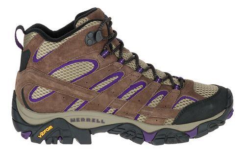 Womens Merrell Moab 2 Vent Mid Trail Running Shoe - Bracken/Purple 7.5