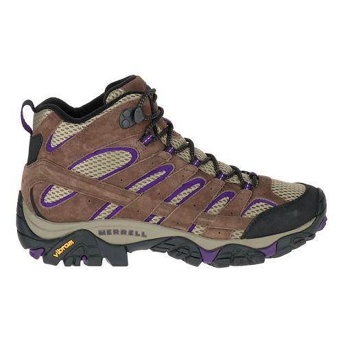 Womens Merrell Moab 2 Vent Mid Trail Running Shoe - Bracken/Purple 9.5