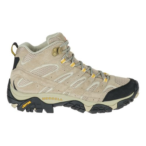 Womens Merrell Moab 2 Vent Mid Trail Running Shoe - Taupe 6.5