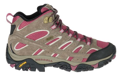 Womens Merrell Moab 2 Mid Waterproof Hiking Shoe - Boulder/Blush 6.5