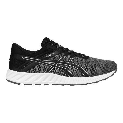 Mens ASICS fuzeX Lyte 2 Running Shoe - Black/Silver 12.5