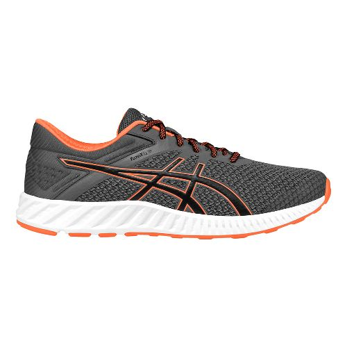 Mens ASICS fuzeX Lyte 2 Running Shoe - Grey/Orange 8.5