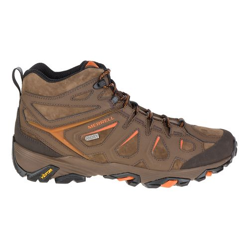 Mens Merrell Moab Fst Ltr Mid Waterproof Hiking Shoe - Dark Earth 13