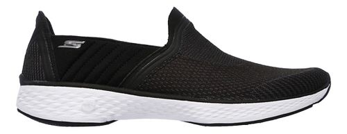 Womens Skechers GO Walk Sport Casual Shoe - Black/White 9