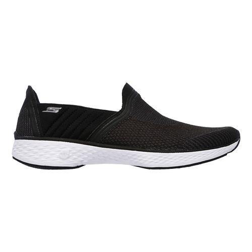 Womens Skechers GO Walk Sport Casual Shoe - Black/White 11