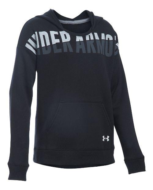 Under Armour Girls Favorite Fleece Half-Zips & Hoodies Technical Tops - Black YXL