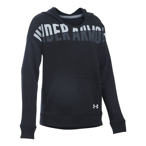 Under Armour Girls Favorite Fleece Half-Zips & Hoodies Technical Tops - Black YS