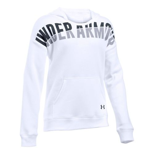 Under Armour Girls Favorite Fleece Half-Zips & Hoodies Technical Tops - White YXS