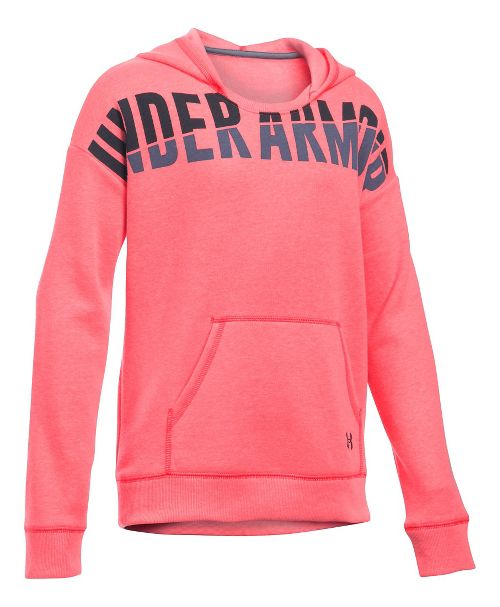 Under Armour Girls Favorite Fleece Half-Zips & Hoodies Technical Tops - Pink Chroma YL