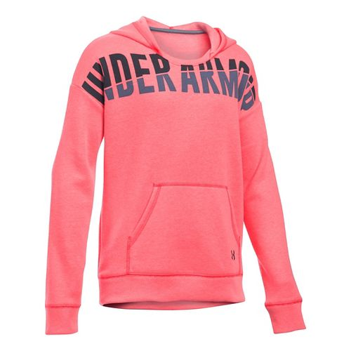 Under Armour Girls Favorite Fleece Half-Zips & Hoodies Technical Tops - Pink Chroma YS