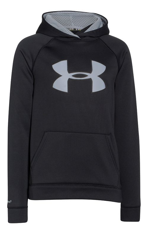 Kids Under Armour Fleece Storm Big Logo Hoody Half-Zips & Hoodies Technical Tops - ...