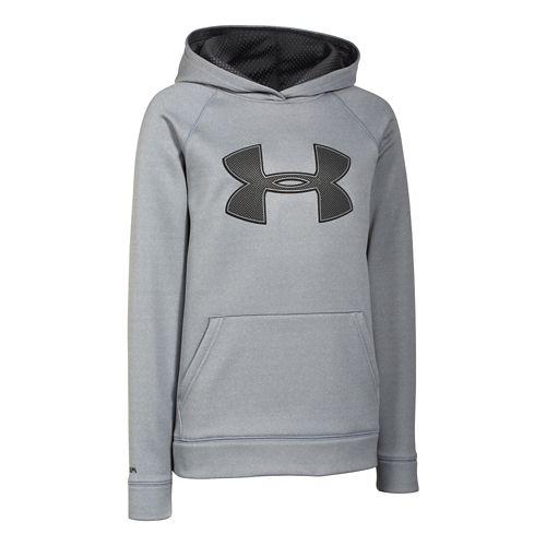 Kids Under Armour Fleece Storm Big Logo Hoody Half-Zips & Hoodies Technical Tops - True ...