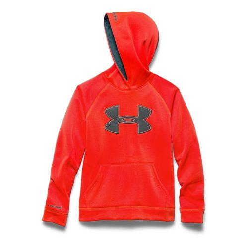 Kids Under Armour Fleece Storm Big Logo Hoody Half-Zips & Hoodies Technical Tops - Bolt ...