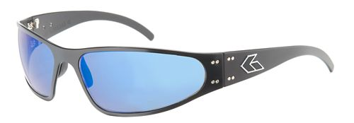 Mens Gatorz Wraptor Sunglasses - Black/Blue