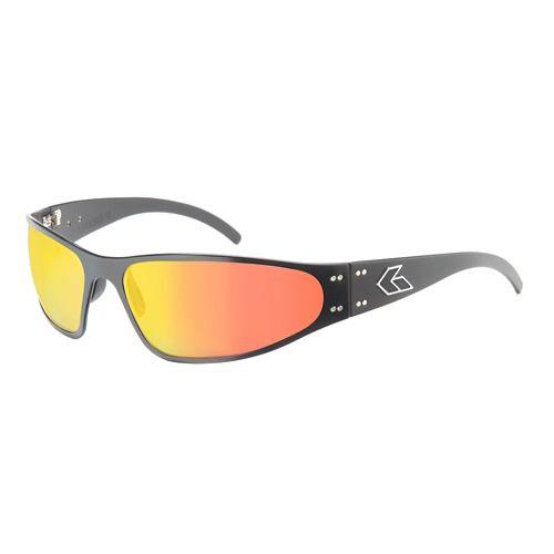 Mens Gatorz Wraptor Sunglasses - Black/Sunburst
