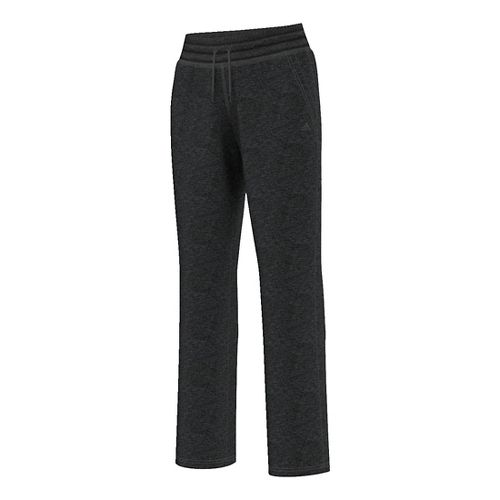 Womens Adidas Team Issue Fleece Dorm Pants - Black Heather L
