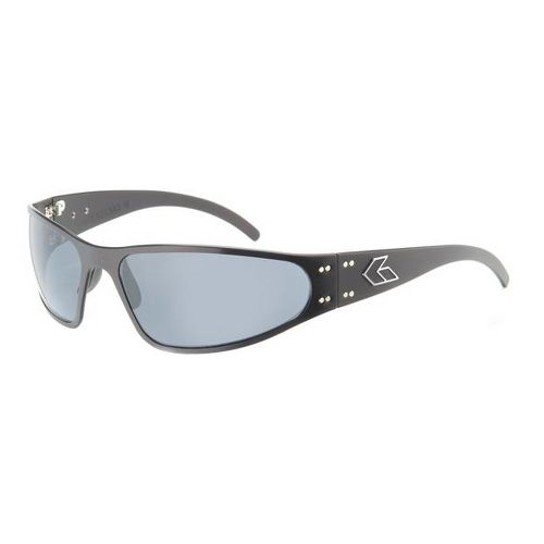 Mens Gatorz Wraptor Sunglasses - Black/Polairzed